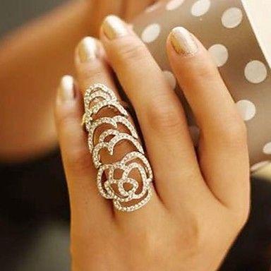 Массивные кольца ( Хрусталь/Сплав ) - Свадьба/Для вечеринок/Повседневные – RUB p. 415,35
