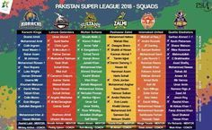 PSL 2018 | Schedule | Teams | Stats | Results and News