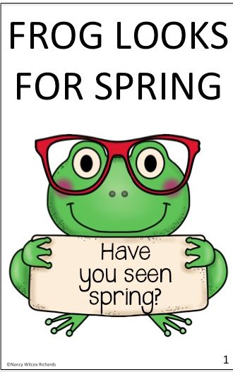 "An engaging story about a frog who can't find spring no matter how hard he looks.  (3 levels of differentiation) This leveled reader has a companion nonfiction text, ""Frog Life Cycle""."