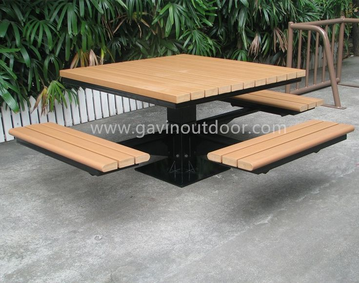 metal and recycled plastic picnic table park furniture set view park furniture gavin product