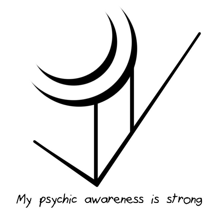 """""""Моё психическое осознание сильное""""-Sigil Athenaeum — """"My psychic awareness is strong"""" sigil """"I turn my..."""