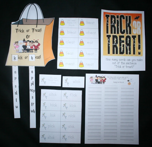 Classroom Freebies: -ick and -eat Word Family ActivitiesTreats Bags, Classroom Freebies, Eating Words, Word Families, Families Activities, Family Activities, Words Families, Classroom Ideas, 1St Grade