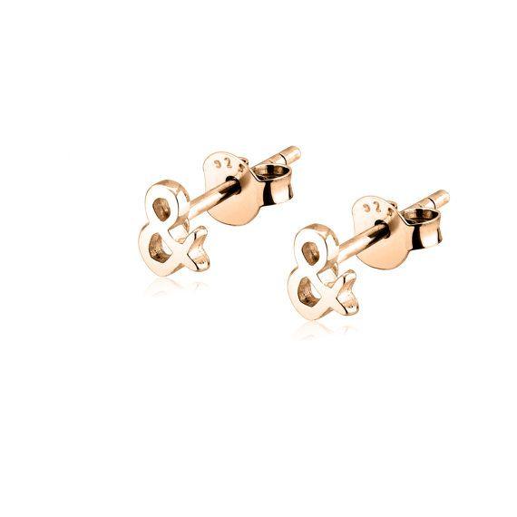 ampersand earrings