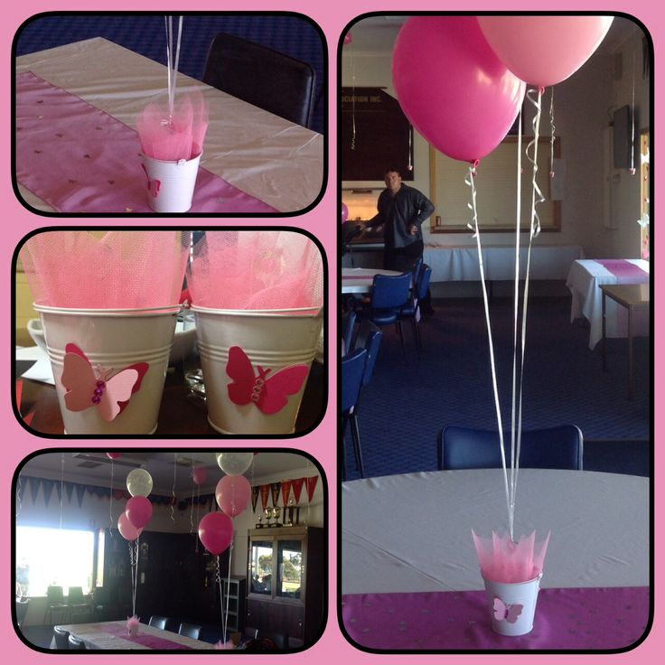 Butterfly themed balloon table centres https://www.facebook.com/WeddingsPartiesAnything?ref=hl