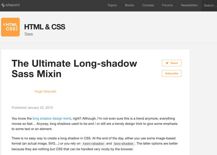 The Ultimate Long Shadow Sass Mixin -  http://www.sitepoint.com/ultimate-long-shadow-sass-mixin/