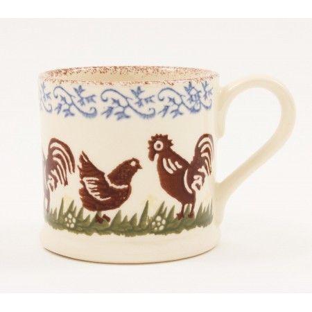 Brixton Pottery Cock & Hen Mug - £11.50