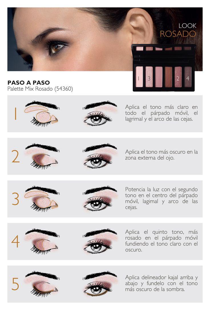 Aplicar con el pincel o ayudando con sus dedos una pequeña cantidad de producto sobre los párpados, extender hasta obtener la intensidad deseada, evitando el contacto con el interior del ojo.
