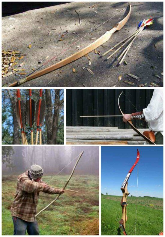 18 DIY Bow And Arrow Projects For Survival | Having an item like a bow and arrow that can be used as a weapon for protection or to have for hunting when outdoors.