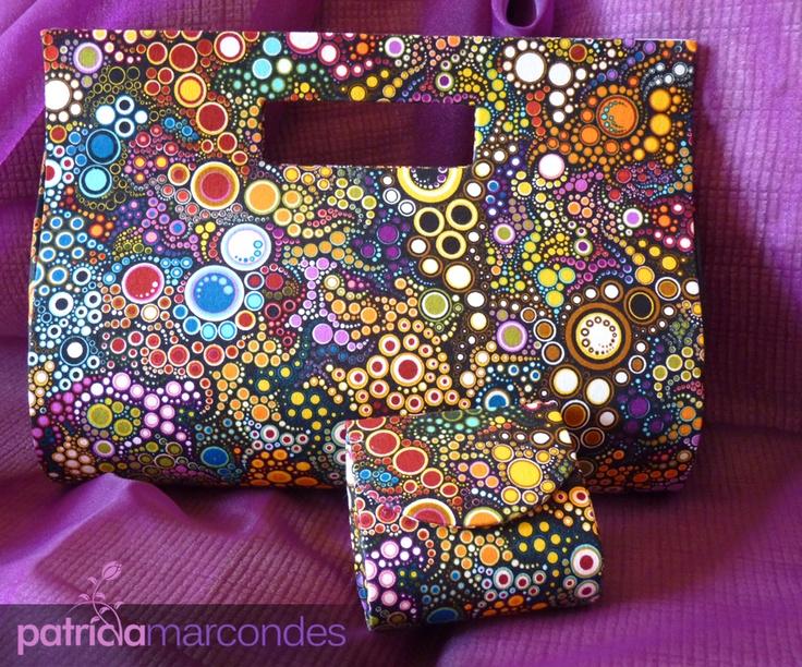 Tecidos e tecidinhos: Bolsa Gabriela e Porta Moedas
