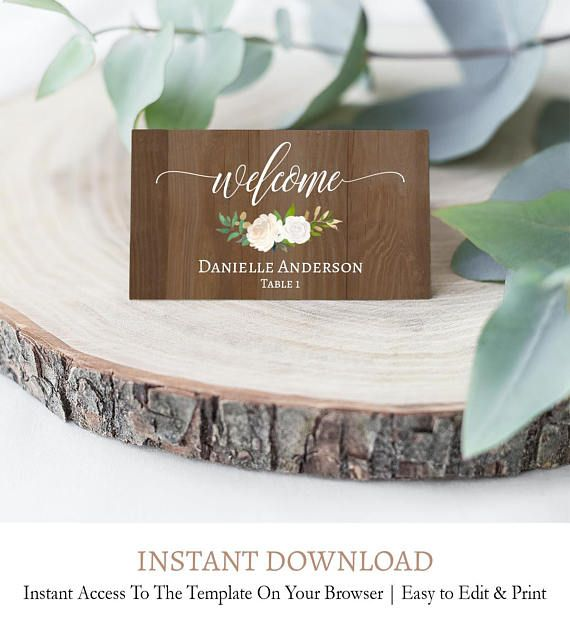 Wood Place Cards Template Rustic Place Cards Wooden Place Etsy Rustic Place Cards Wedding Name Cards Wedding Name Tags
