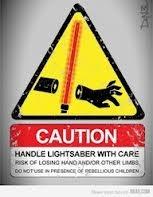 Star Wars Light Saber Safety Sign