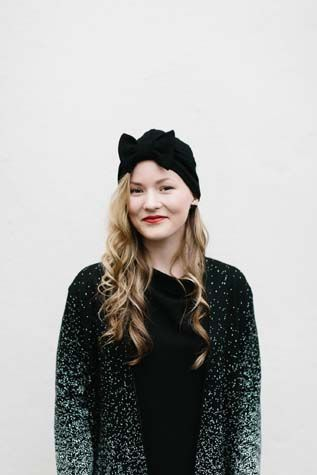 Beanie MUKA VA, cardigan Uhana Design, earrings Vuoriortta.   #mukava #uhanadesign #finnishdesign #ecological #weecos
