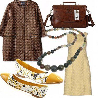 Outfit Marrone-giallo