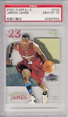 awesome 2003 EX E-X Basketball #102 Lebron James Rookie Card PSA 10 - For Sale