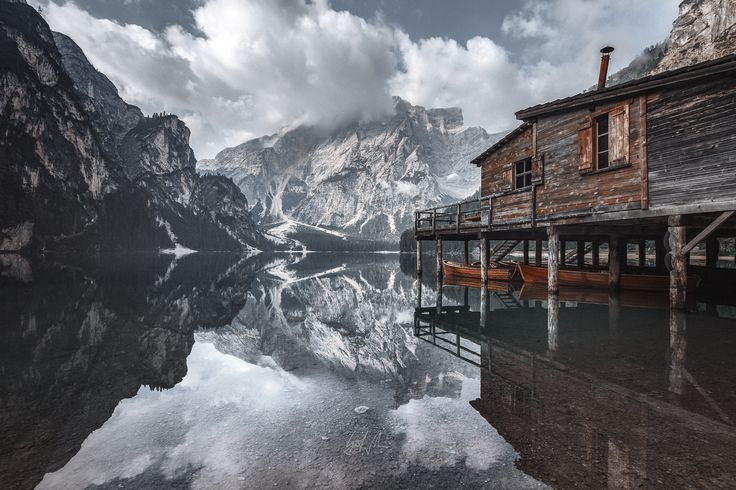 """The Magic House - glassy water and impressive surroundings, for me this one of the most beautiful lakes in the alps, lago di braies, italy.  if you like my work follow me on  if you like it, follow me on  <a href=""""http://www.facebook.com/guerelsahinpictures"""">FACEBOOK</a> <a href=""""https://instagram.com/guerelsahinpictures/"""">INSTAGRAM</a>"""