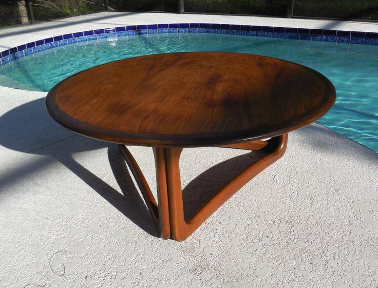 mid century lane round coffee table 1963 midcenturyfla. Black Bedroom Furniture Sets. Home Design Ideas