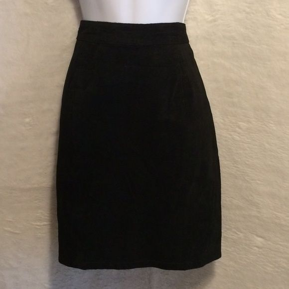 Ivy Club Classics Black Suede Skirt Lovely Ivy Club Classics Black Suede Skirt. Wear this with any color top & tights with a great boot & you will be the rock star. In perfect condition. Thank You Ivy Club Classics Skirts