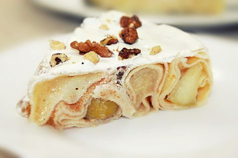 Блинный торт - Самый простой торт из блинов