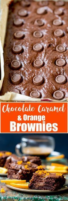 Gooey in the middle with a hint of zesty orange, these Chocolate Caramel Orange Brownies really hit the spot! Gluten free too! #chocolateorange #chocolatecaramel #glutenfreebrownies