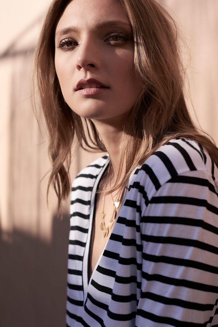 The bon Vee by bon label. Autumn 17 collection. organic. ethical fashion. made in australia. inspired by paris. good for womankind.   stripe, long sleeves, top, essentials, organic, cotton, parisian style   SHOP bonlabel.com.au