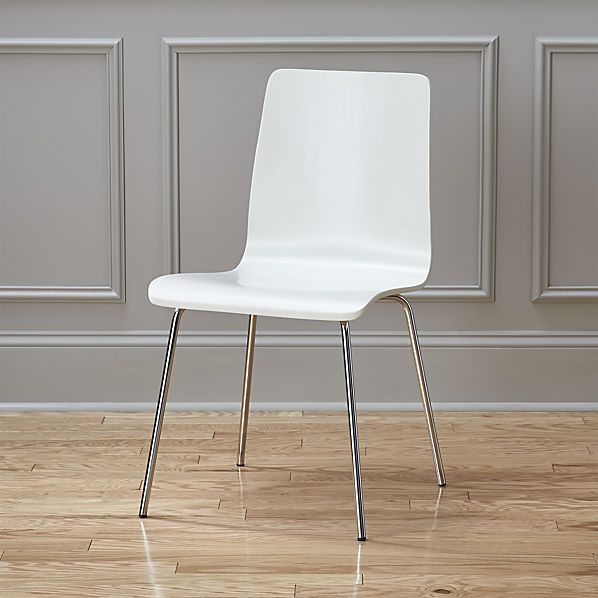 ideal II white chair - $79.95 (less 15% is $67.70) not super comfy for longer periods of time but durable and easy to clean - would work with with teak table