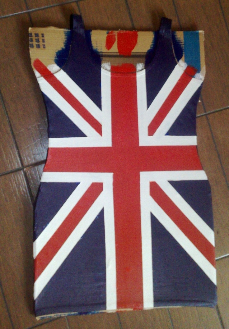 Yeah, I'm ready for my Ginger Spice Photoshoot, I made this custom painted Union Jack dress