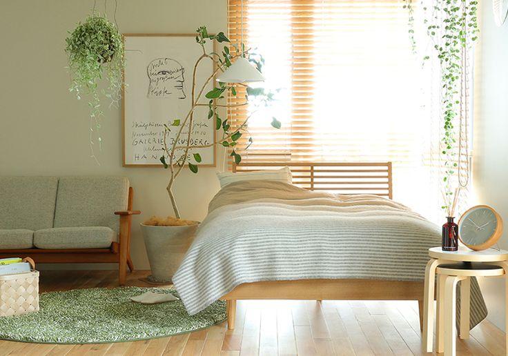 ナチュラルカラー×植物をアクセントに取り入れた北欧の寝室|Re:CENO INTERIOR STYLING BOOK