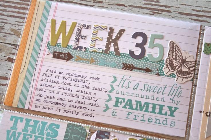Mish Mash: Project Life 2012, Week 35 using some Elle's studio, washi tape & Woodland Park stickers