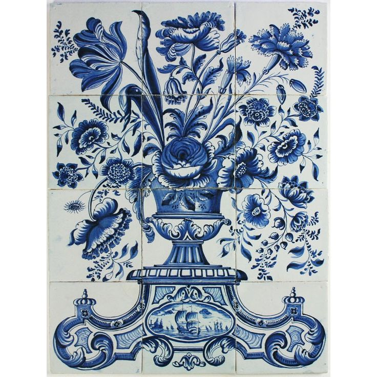 1000 images about dutch delft tile murals on pinterest for Delft tile mural