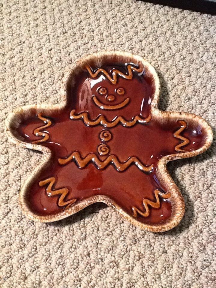VINTAGE HULL POTTERY BROWN DRIP GLAZE GINGERBREAD MAN COOKIE PLATE & 18 best Vintage Brown Drip Dinnerware images on Pinterest | Hull ...