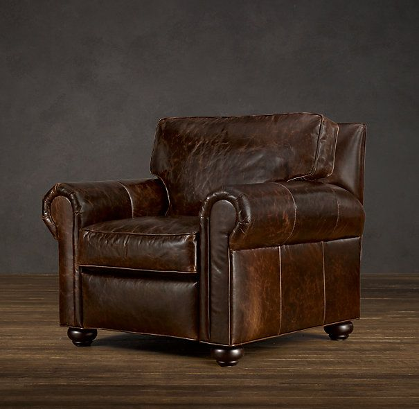 Lancaster Leather Recliner....papbear WILL have his comfy recliner....especially if it looks like THIS!
