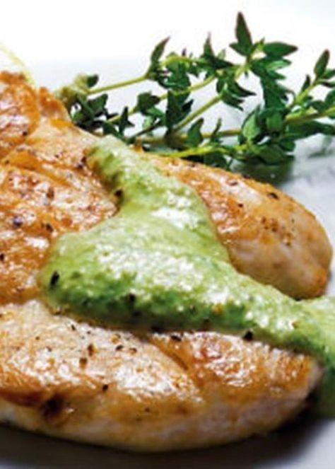 Peitos de frango com molho de limão e nozes