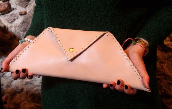 Vegetable leather clutch