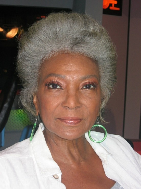 Nichelle Nichols. Foxy as always. We're slightly related--distant cousins--and my sister is going to look almost exactly like her when she's her age.