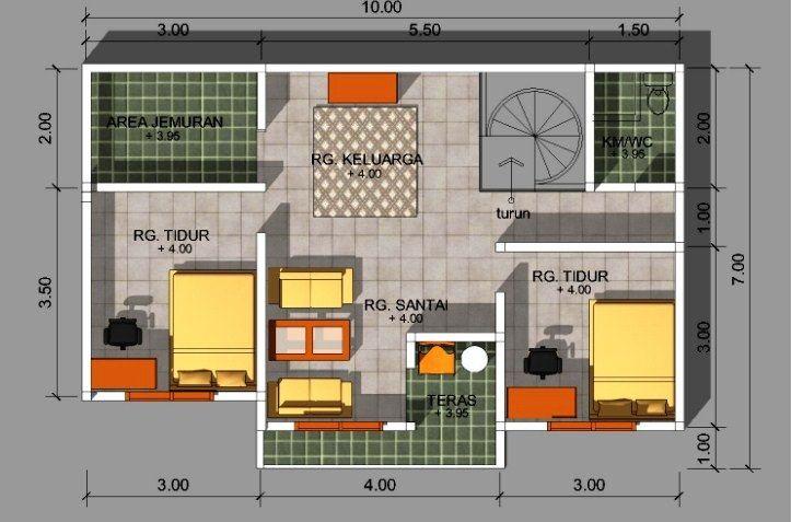 10 Ide Denah Rumah Ukuran 6 215 8 Minimalis Sederhana Namun Indah Denah Rumah Desain Rumah Rumah Minimalis