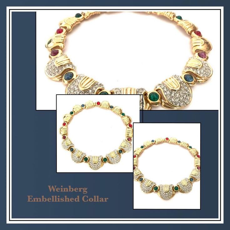 Stunning Weinberg Mogul Style Collar http://ift.tt/1NgzWW4 #vintagejewelry #giftsforher #vintagegifts #fashion #musthave #style #instamall #instagood #shoppingtime #collectiblevintage #instacool #instapic #iphonesia #repost #costumejewelry #vintagesterling #jewelry #vintage #vintagelovers #shopsmall #shopvintage #gifts4Her #MomBosses #shopetsy #collectiblevintage #plsfollow4update #more2Come