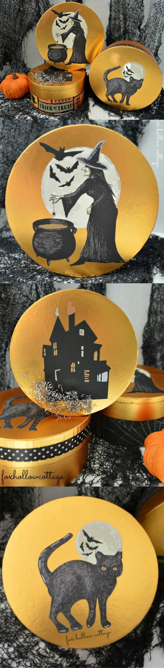 Halloween Decoupage Craft with @Alissa Huybers Crafts  #marthastewart #MSHalloween #Halloweencraft #sponsored