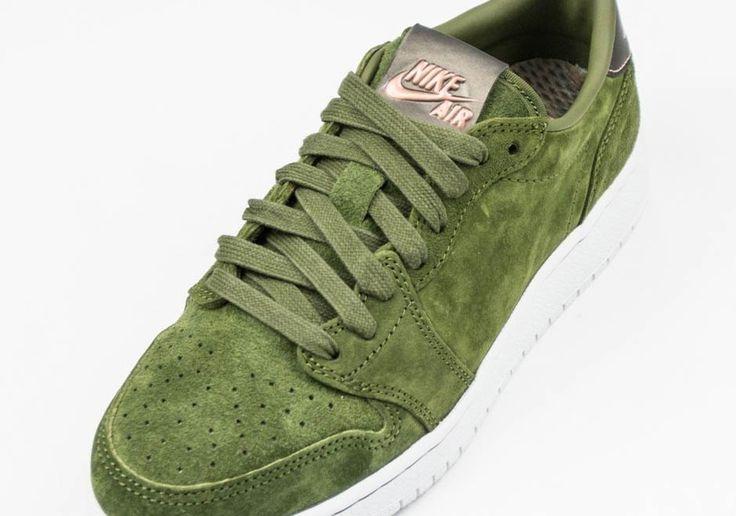 "#sneakers #news  The Swooshless Air Jordan 1 Low Releases In ""Legion Green"""
