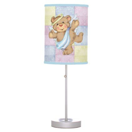 Pastel Pink Blue and Yellow Custom Desk Lamp - baby gifts child new born gift idea diy cyo special unique design