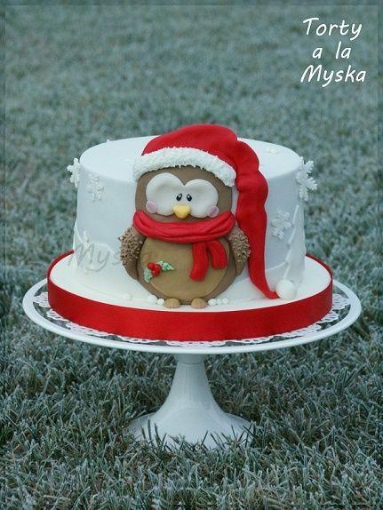 Christmas Owl Cake