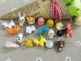 Image result for small plastic resin cow figurines