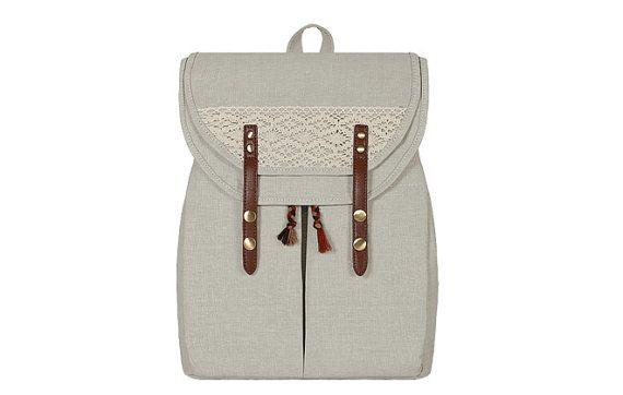 Canvas Backpack/ Laptop Backpack/ Laptop Bag/ Travel Backpack/ Vintage Backpack