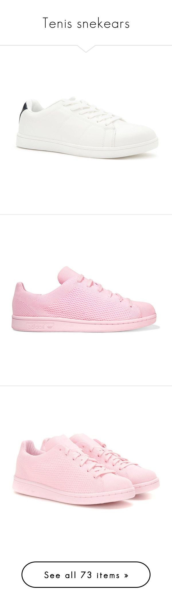 """Tenis snekears"" by paradapermitida on Polyvore featuring shoes, sneakers, forever 21, lace up shoes, vegan shoes, low profile sneakers, cushioned shoes, zapatos, pink e shoes - sneakers"