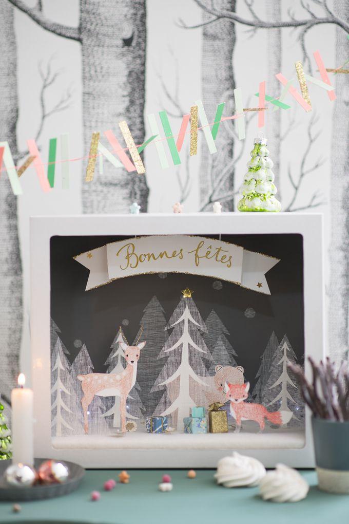 DIY de Noël, une décoration en papier à faire avec les enfants