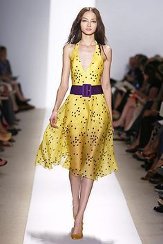 This Dress Matches Complimentary Colors Because Violet And Yellow Compliment Each Other