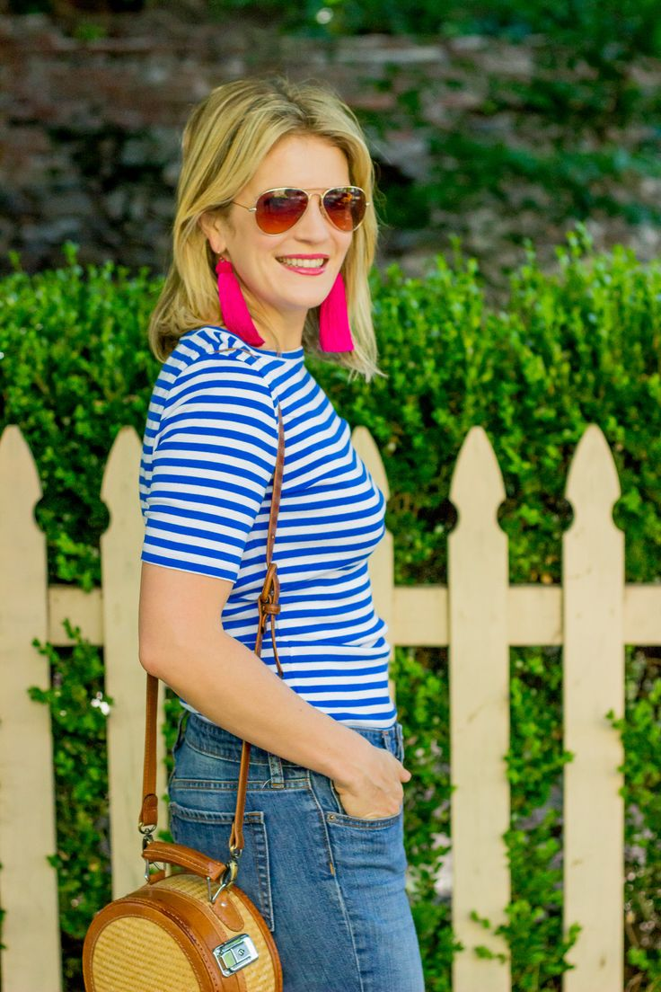 J.Crew Perfect-fit T-shirt worn by Atlanta Blogger Elise Giannasi