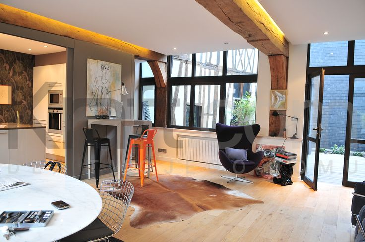home interior design inspiration  France  A little color inspiration for all you colorful living room lovers. All by kraft.com