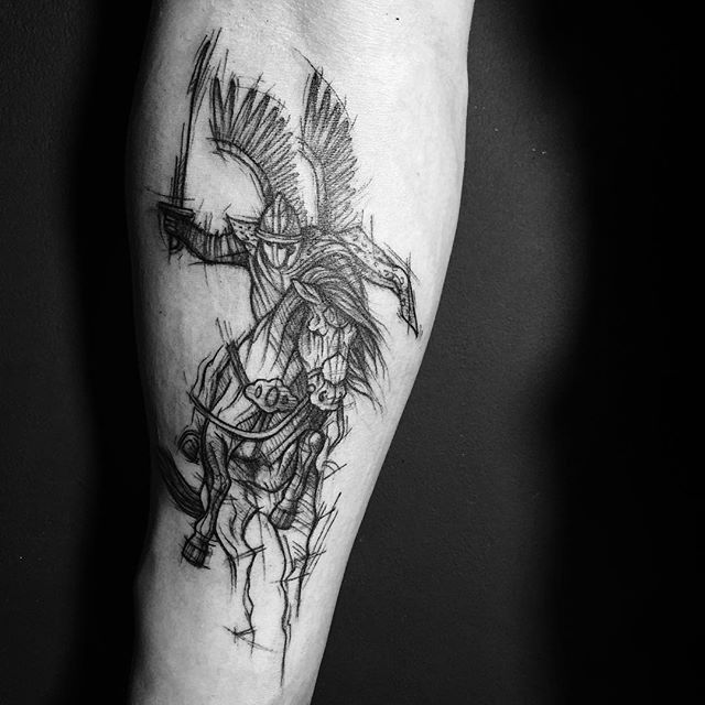 Hussar - Polish Winged Warrior #tattoo #sketchtattoo #tattoos #tattoosleeve #blackworktattoo #blackworkerssubmission #blackwork #ink #inked #inkedup #hussar #hussaria #husaria #wings #warrior #warriors #warriortattoo #poland #warsaw