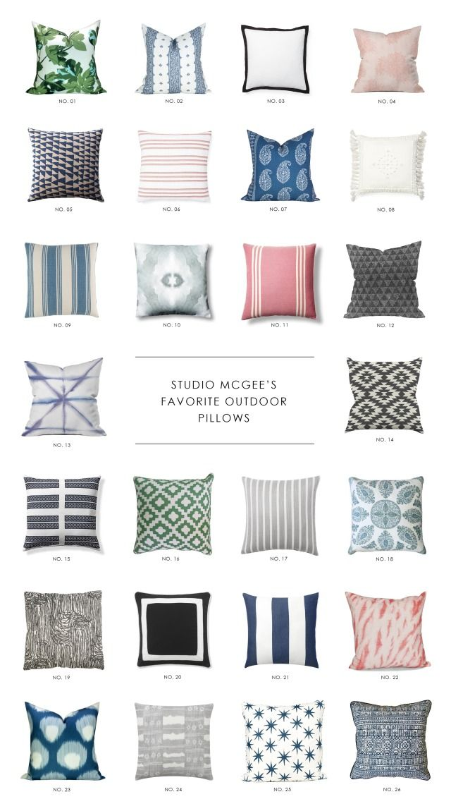 Our Favorite Outdoor Pillows | Studio McGee Blog