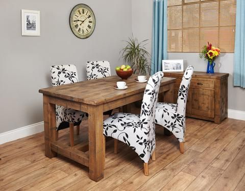Heyford Rough Sawn Oak Dining Table (4 Seater)